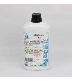 Mayhems X1 - UV Transparente / Azul 1Ltr