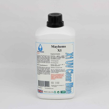 Mayhems X1 - UV Clear Blue 1Ltr