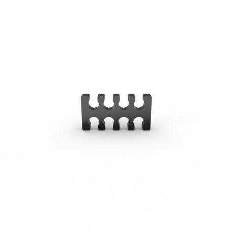 E22 Cable comb abierto 8 slots negro 4mm
