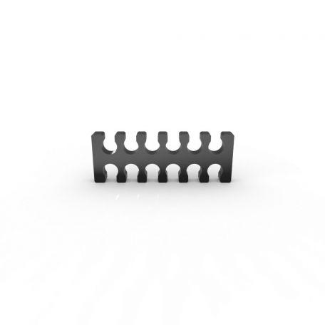 E22 Cable comb abierto 12 slots negro 4mm