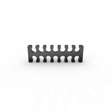 E22 Cable comb abierto 14 slots negro 4mm