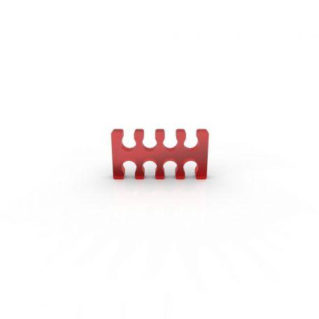 E22 Cable comb abierto 8 slots rojo 4mm