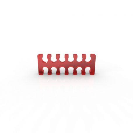 E22 Cable comb abierto 12 slots rojo 4mm