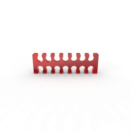 E22 Cable comb abierto 14 slots rojo 4mm