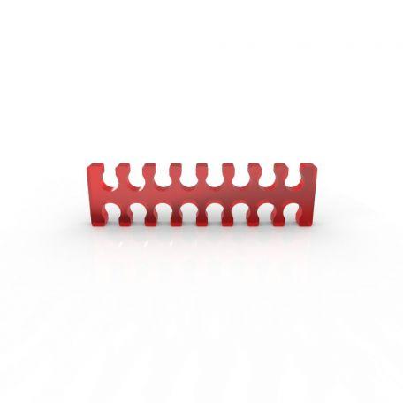 E22 Cable comb abierto 16 slots rojo 4mm