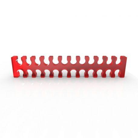 E22 Cable comb abierto 24 slots rojo 4mm