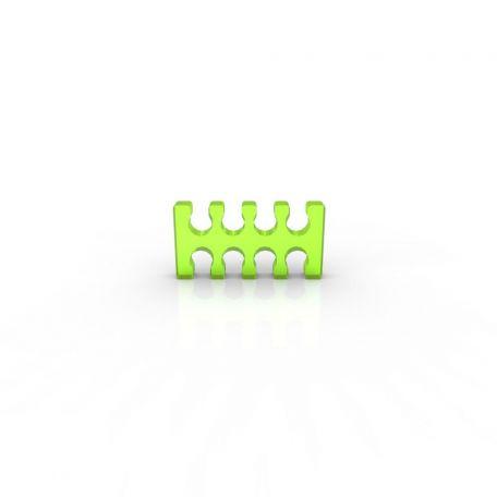 E22 Cable comb abierto 8 slots verde ácido 4mm