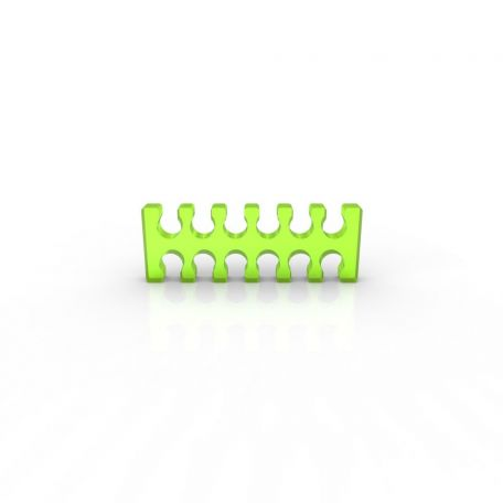 E22 Cable comb abierto 12 slots verde ácido 4mm