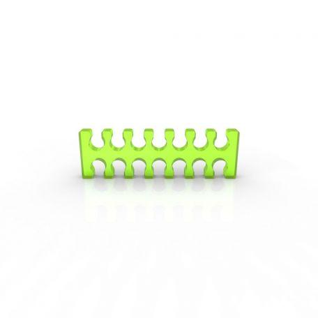 E22 Cable comb abierto 14 slots verde ácido 4mm