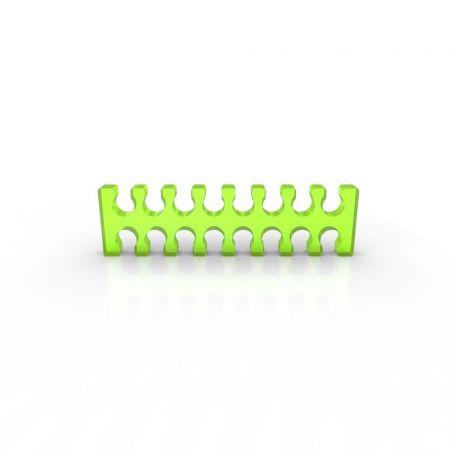 E22 Cable comb abierto 16 slots verde ácido 4mm