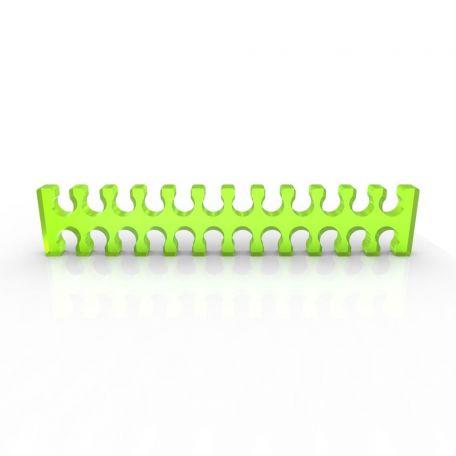 E22 Cable comb abierto 24 slots verde ácido 4mm