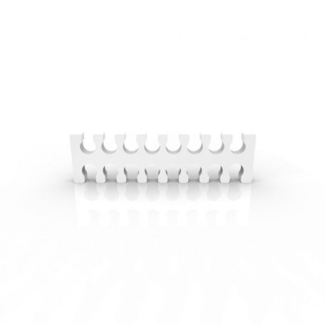 E22 Cable comb abierto 16 slots blanco 4mm