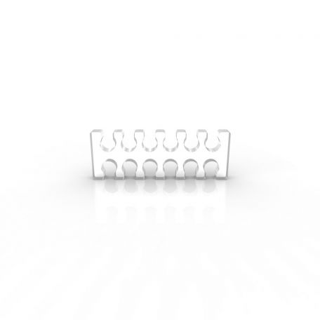 E22 Pack 5 cable comb abierto 12 slots transparente 4mm