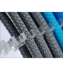 E22 Cable Comb Abierto 24 Slots Transparente 4mm