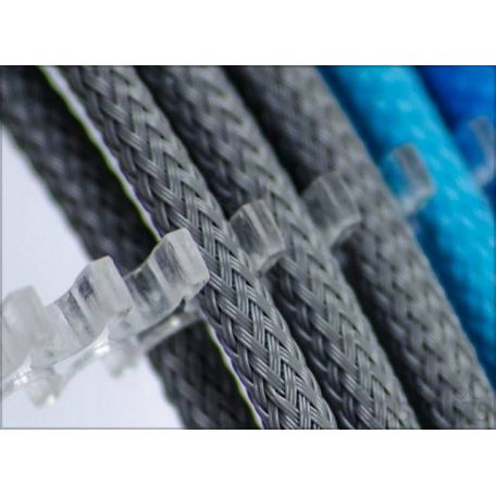E22 Cable comb abierto 24 slots transparente 4mm