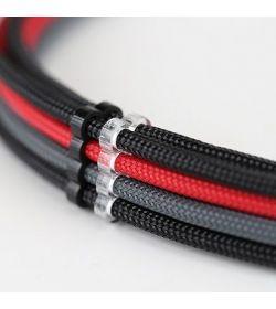 E22 Pack 5 cable comb cerrado 8 slots transparente 4mm