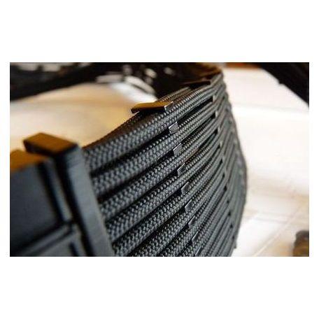 E22 Cable comb abierto 24 slots negro 4mm