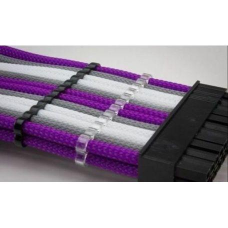 E22 Pack 5 cable comb cerrado 24 slots transparente 4mm