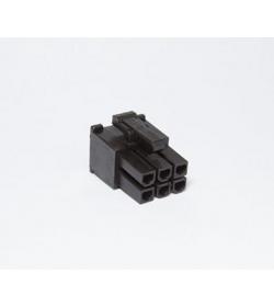 BHCustoms Conector PCIe 6 pin Negro - Hembra