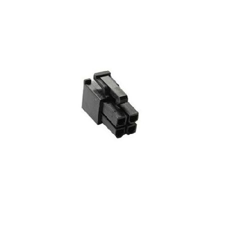 Conector EPS 4 pins negro BH Customs - hembra
