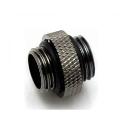 "XSPC G1/4"" 5mm M/M Negro Cromado Racor"