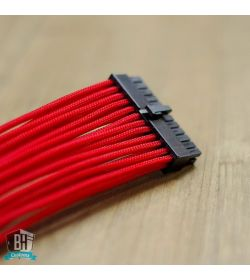 BHCustoms Extensor Cable ATX 24 pin M/H Rojo