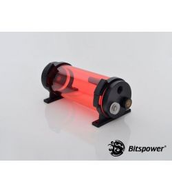 Bitspower Z-Multi 150 ICE Red Body & Black Acetal Depósito