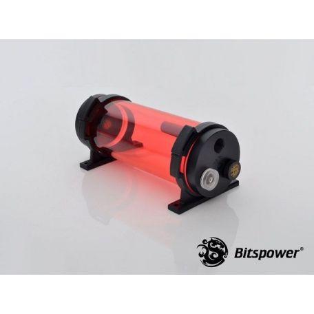 Bitspower Depósito Tanque de agua Z-Multi 150 ICE Red Body & Black POM Cap