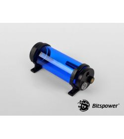 Bitspower Z-Multi 150 ICE Blue Body & Black Acetal Depósito