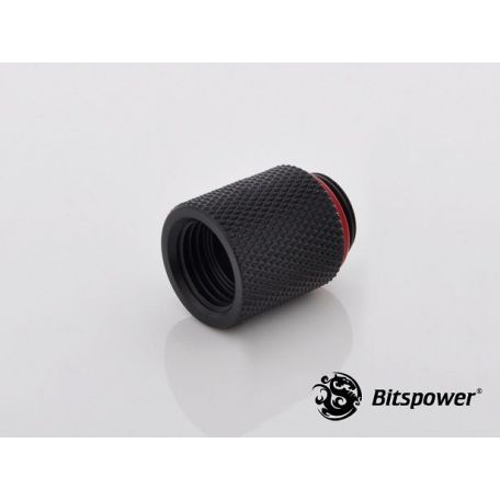 Bitspower Racord extensor 20mm Negro carbono G1/5