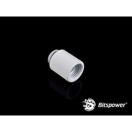 Bitspower Racord extensor 20mm Blanco Deluxe G1/5
