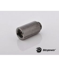 "Bitspower G1/4"" 30mm Negro Brillante Racor"