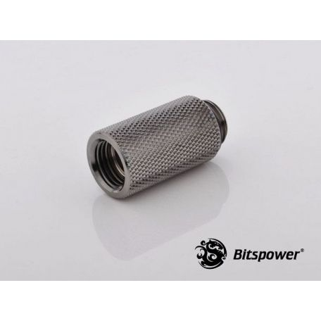 Bitspower Racord extensor 30 mm Negro brillante IG1/5
