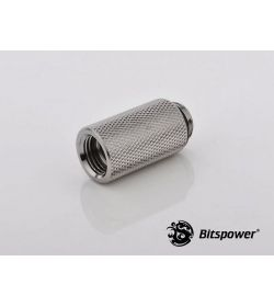 "Bitspower G1/4"" 30mm Plata Brillante Racor"