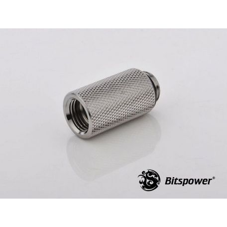 Bitspower Racord extensor 30mm Plata brillante IG1/5