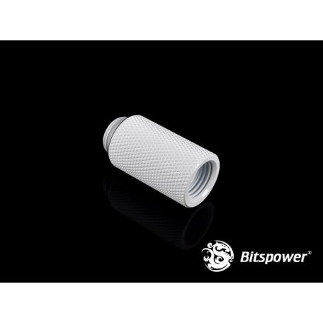Bitspower Racord extensor 30mm Blanco Deluxe G1/5