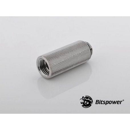 Bitspower Racord extensor 40mm Plata brillante IG1/5