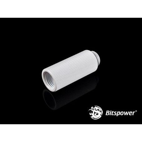 Bitspower Racord extensor 40mm Blanco Deluxe G1/5