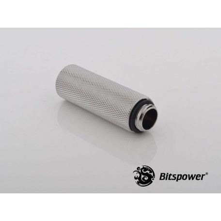 Bitspower Racord extensor 50mm Plata brillante IG1/5