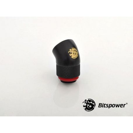 Bitspower Racord rotativo 45º Carbon Black IG1/4