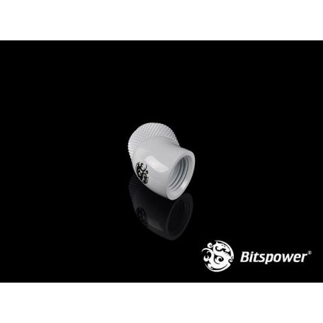 Bitspower Racord rotativo 45º Deluxe White IGI/5