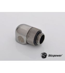 "Bitspower G1/4"" 90º Rotary Negro Brillante Racor"