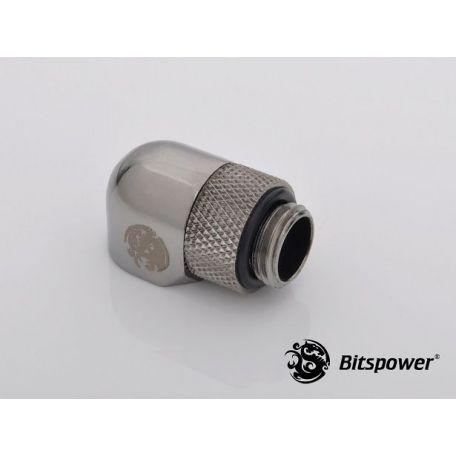 Biispower Racord rotativo 90º Negro brillante IG1/5