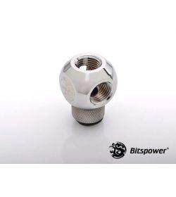 """Bitspower G1/4"""" Q-Rotary X3 Plata Brillante Racor"""