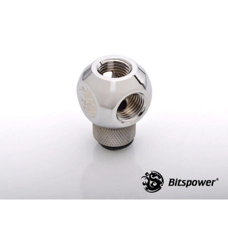 Bitspower Racord Silver Shining Q-Rotary G1/4 X4 extensor