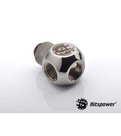 "Bitspower G1/4"" Q-Rotary X3 Negro Brillante Racor"