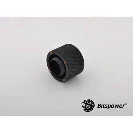 Bitspower Racord compresión Negro Carbono CC5 para ID 1/2 OD 3/5