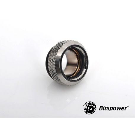 Bitspower Racord adaptador multifunción negro brillante Mini C49