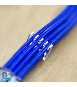 BHCustoms Pack 5 Cable Comb Abierto 6 Slots Negro 4mm
