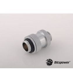 Bitspower Aqua Link Pipe I 22-31mm Plata Brillante Racor